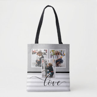 "Customized Photo Template ""Love"" Tote Bag"