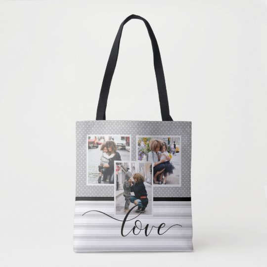 """Customized Photo Template """"Love"""" Tote Bag"""