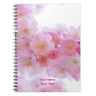 Customized Pink Japanese Cherry Blossom Bloom Note Book