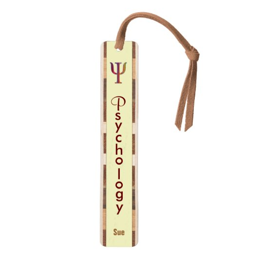 Customized Psychology Book Mark Walnut Bookmark