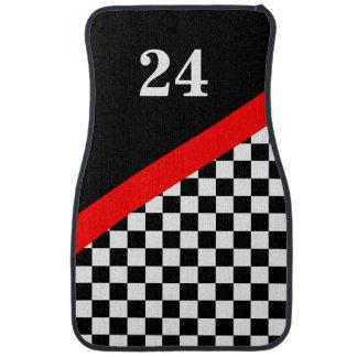 Customized Racing Flag Floor Mats