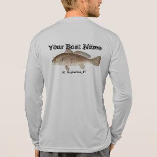 Customized Red Bass Fishing Shirt