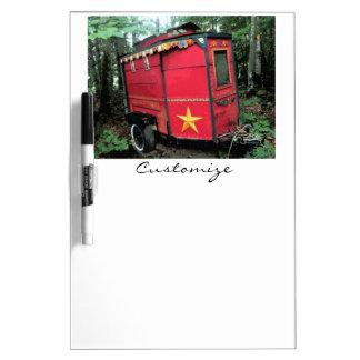 Customized Red Gypsy tiny caravan Dry Erase Board