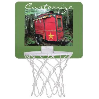 Customized Red Gypsy tiny caravan Mini Basketball Hoop
