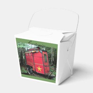 Customized Red Gypsy tiny caravan On caravan Favor Box