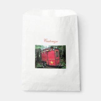 Customized Red Gypsy tiny caravan On caravan Favour Bag