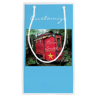 Customized Red Gypsy tiny caravan On caravan Small Gift Bag