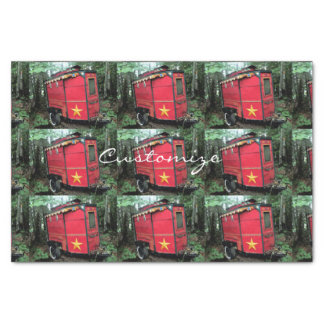 Customized Red Gypsy tiny caravan Tissue Paper