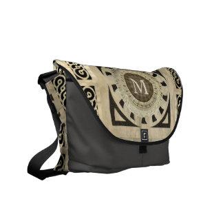 Customized Renaissance Marble Monogram Courier Bags
