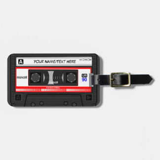 Customized Retro Music Cassette Tape Bag Tags