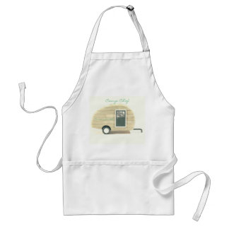 Customized Retro teardrop camper Standard Apron