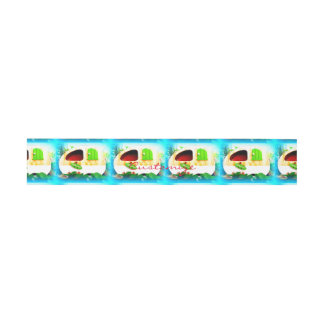 Customized Retro Vintage camper Invitation Belly Band