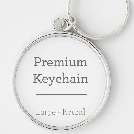 Customized Round Photo Keychain