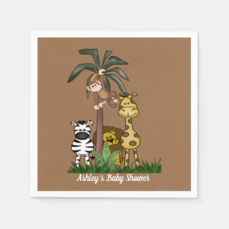 Customized  Safari Jungle Baby Shower Paper Napkin