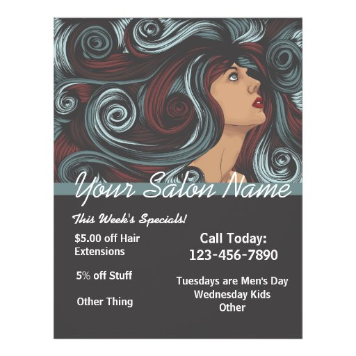 Customized Salon Flyer template