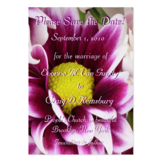 Customized Save The Date I Business Card Template