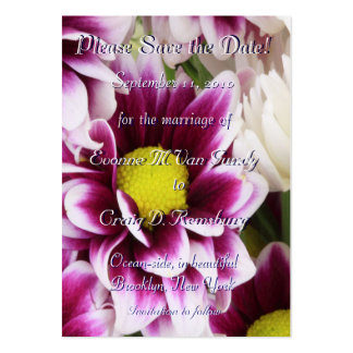 Customized Save The Date III Business Card Template