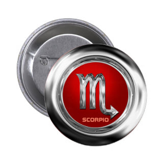 Customized Scorpio Zodiac Glyph 2 Inch Round Button