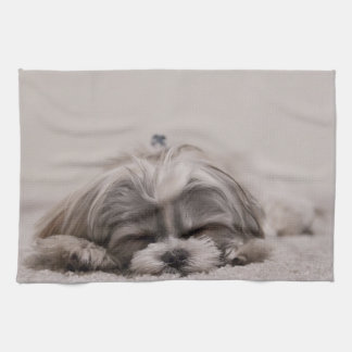 Customized Shih tzu Kitchen Towel, Sleeping Dog Kitchen Towel