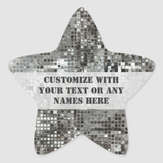 Customized Silver Sequins Star Sticker