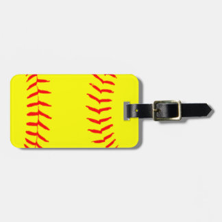 Customized Softball Luggage Tag