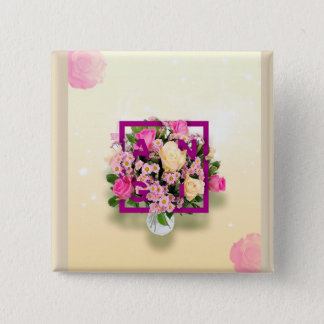 Customized square button with name