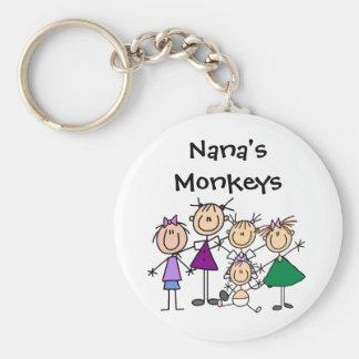Customized Stick Figure Family Keychains