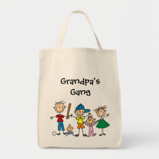 Customized Stick Figure Kids Family Tote Bag