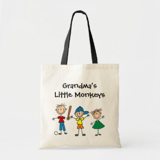 Customized Stick Figure Kids Tote Bag