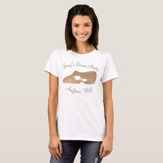 Customized Tan Lyrical Modern Shoe Dance Studio T-Shirt