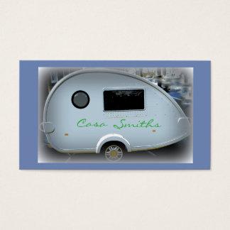 Customized teardrop Vintage camper Business Card