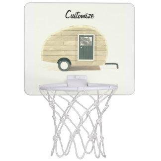 Customized teardrop Vintage camper Mini Basketball Hoop