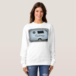 Customized teardrop Vintage camper Sweatshirt