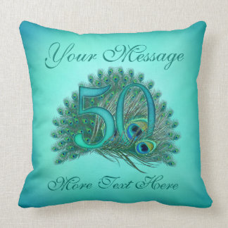 Customized text elegant 50th Birthday 50 Pillows