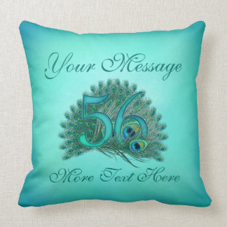 Customized text elegant 56th Birthday 56 Pillow
