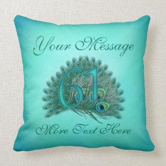 Customized text elegant 61st Birthday 61 Pillow