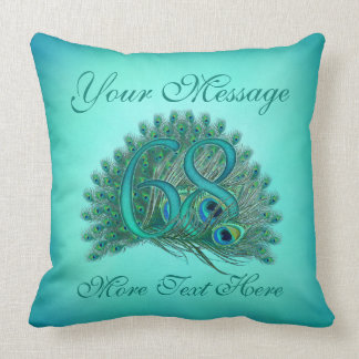 Customized text elegant 68th Birthday 68 Pillow