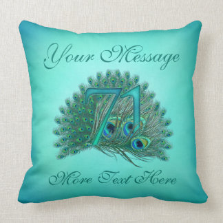Customized text elegant 71st Birthday 71 Pillow