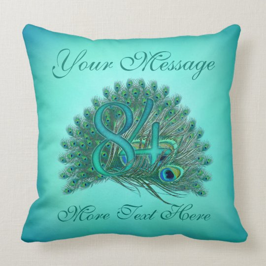 Customized text elegant 84th Birthday 84 Pillows