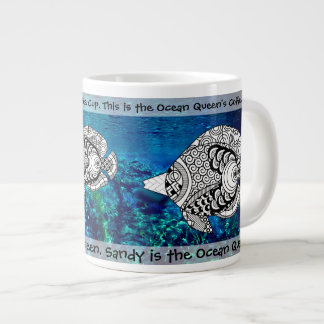 Customized Tropical Angel Fish Jumbo coffee Mug