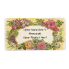 Customized Vintage Floral Canning or Candle Label