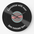 Customized Vinyl Record Large Clock