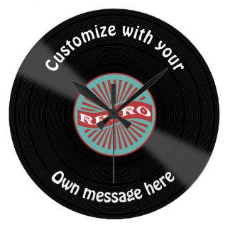 Customized Vinyl Record Large Clock
