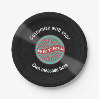 Customized Vinyl Record Paper Plate