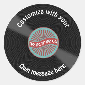 Customized Vinyl Record Round Sticker