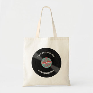 Customized Vinyl Record Tote Bag