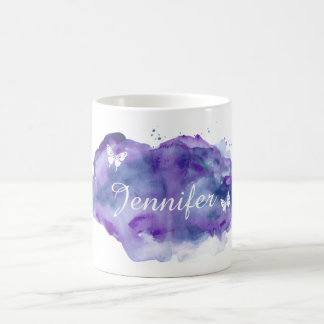 Customized Watercolor Name Coffee Mug