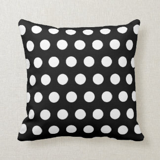 Customized white polka dot pillow