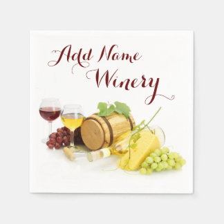 Customized Wine-Themed Paper Napkins
