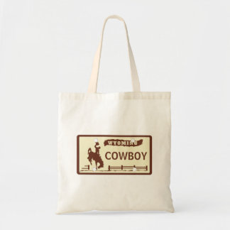 Customized Wyoming License Plate Tote Bag